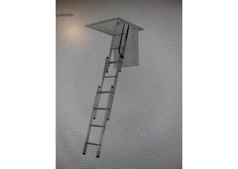 HD aluminum drop down attic ladder