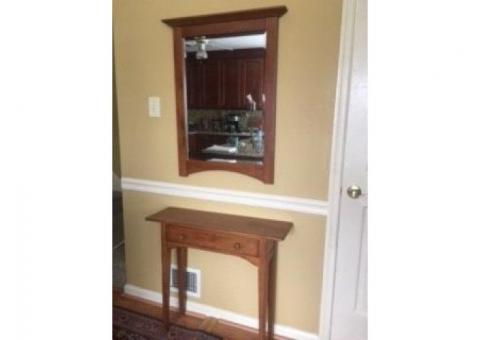 Shaker Style Hall Table & Mirror Set
