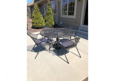 Iron rod patio furniture