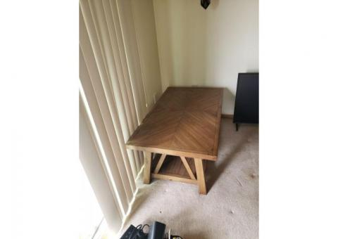 2 year old couch and coffee table , both never used