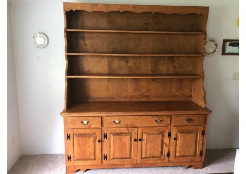 Large Custom Made Hutch Cabinet