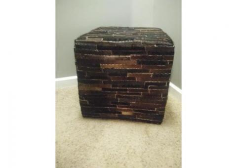 Beautiful Cowhide Ottoman!