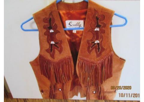 Western Leather Vest size 10
