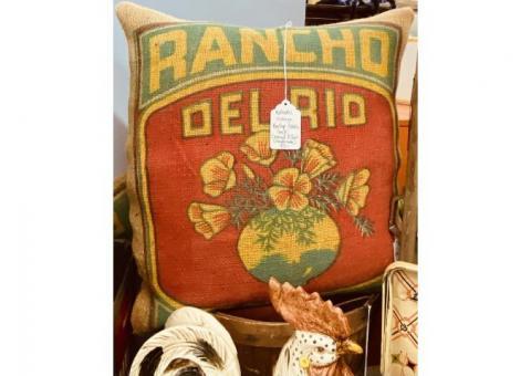 Vintage Burlap Potato Sack Handmade Pillows
